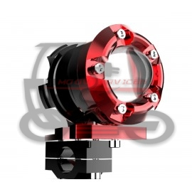 PROJECTEUR LED ALU ROUGE