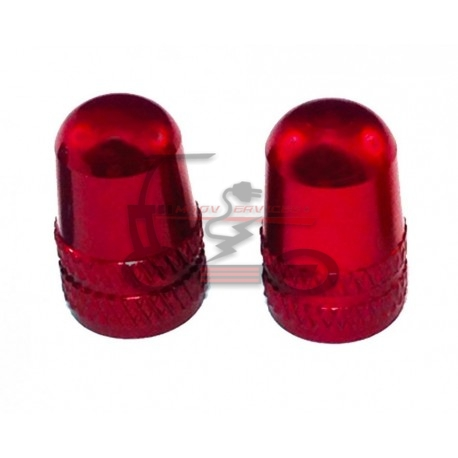 Bouchons de valves aluminium rouge